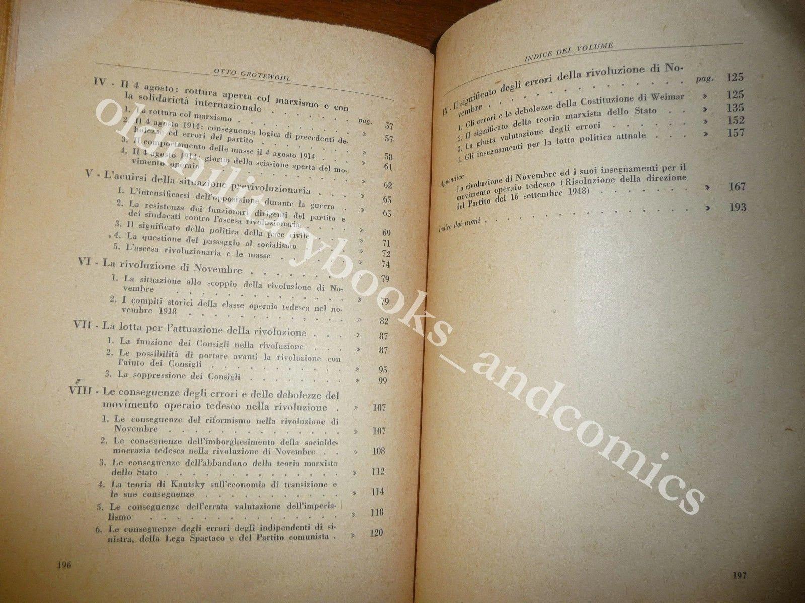 LA RIVOLUZIONE DEL 1918 IN GERMANIA OTTO GROTEWOHL CROLLO IMPERO FINE WWI