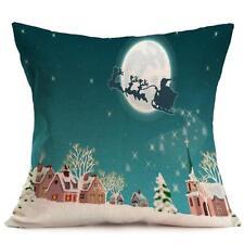 Christmas Cartoon Decoration Home Sofa Decor Pillow Case Cushion Cover T9