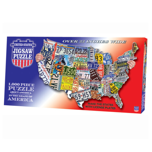 License Plate United States Map.Buy Make The States With License Plates Usa Map Tdc 1000 Pc Jigsaw