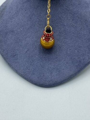 Joan Rivers Gold And Red Faberge Charm With Extend