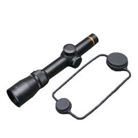 Black Riflescope 1.5-5x20mm Matte Mildot Rifle Scope Duplex Reticle With Mount