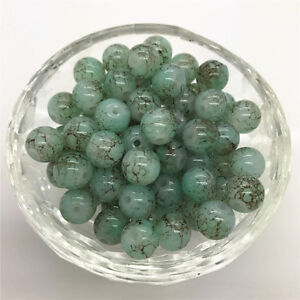 DIY 100 Pcs 4mm Round Pearl Loose Beads Double Colors Glass Jewelry Making #19