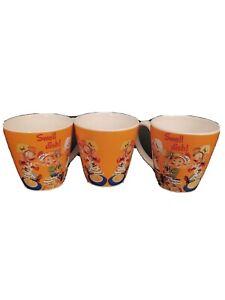 Coffee Mug Vintage Kellogg's Rice Crispies Promotional Set Of 3
