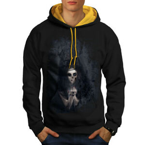 Sport-kapuzenpullis & -sweatshirts Wellcoda Herrenmode Scary Girl Scream Horror Men Contrast Hoodie New