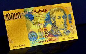 ITALIE-ITALIA-ITALY-BILLET-POLYMER-034-OR-034-DU-10000-LIRE