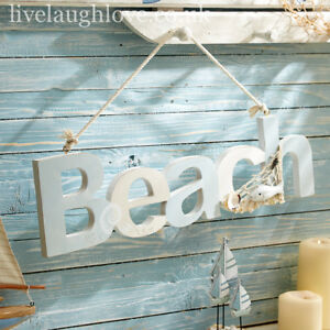 Life Is Good At The Beach 45 x 30cm Rustic Wood Style Nautical Plaque