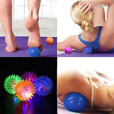 Foot Body Spiky Massage Ball Point Sports Fitness Hand Foot Pain Relief 6.5cm