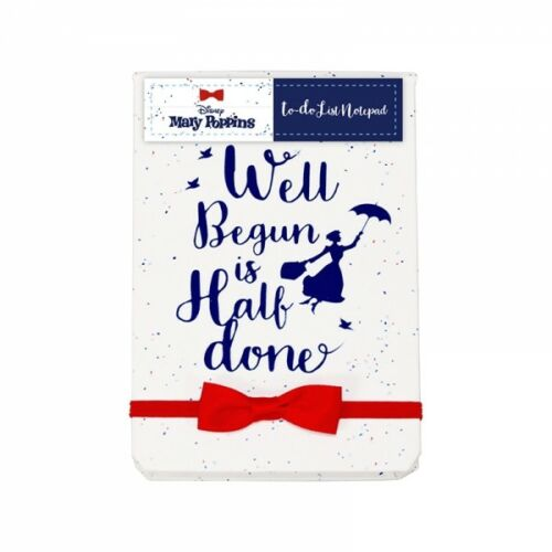 OFFICIAL MARY POPPINS DISNEY WELL BEGUN TO DO LIST A5 NOTEBOOK MEMO PAD