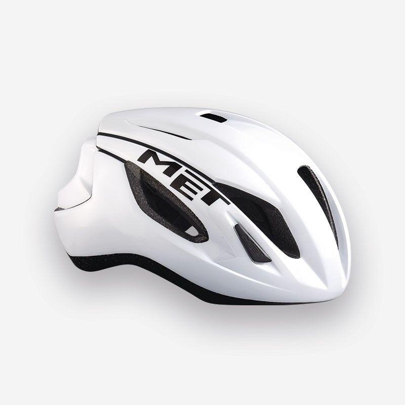 MET Strale 2018 Road Bike Cycling Helmet in Glossy White