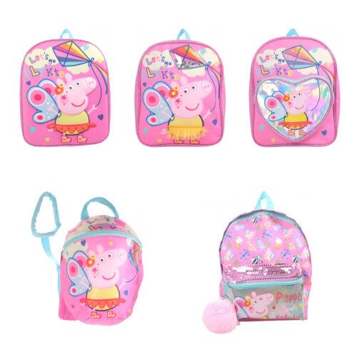 Official Peppa Pig Nursery Junior Girls Pink School Bag Backpack Rucksack