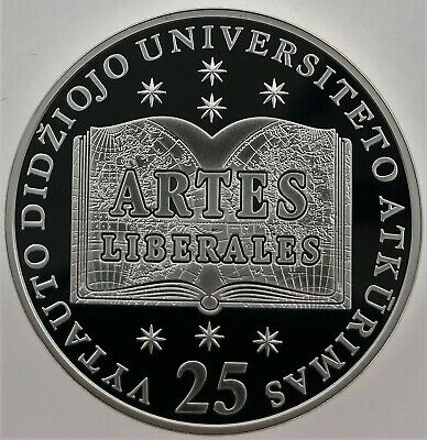 Lithuanian SILVER coin 50LT 25th of the establishment of the Lithuanian Sajudis