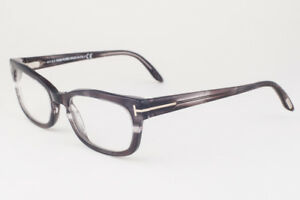 c2fa3d3c07 Image is loading Tom-Ford-5184-020-Black-Gray-Striped-Eyeglasses-