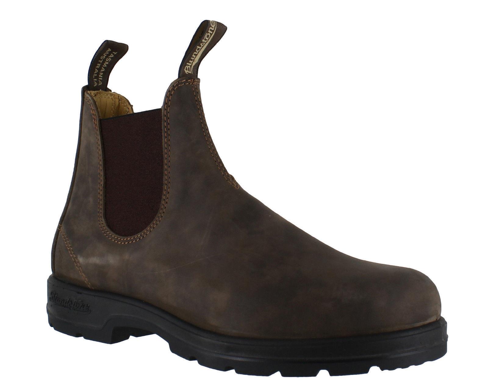 BLUNDSTONE 585 STIVALETTI PELLE botas MARRONE ELASTICI STIVALI Zapatos botas PELLE DA 36 A 46 4232f4