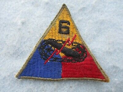"""US Army 6th Armored Division /""""SUPER SIXTH/"""" attached tab patch"""