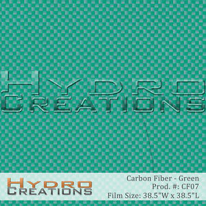 HYDROGRAPHIC FILM FOR HYDRO DIPPING WATER TRANSFER FILM CARBON FIBER - GREEN