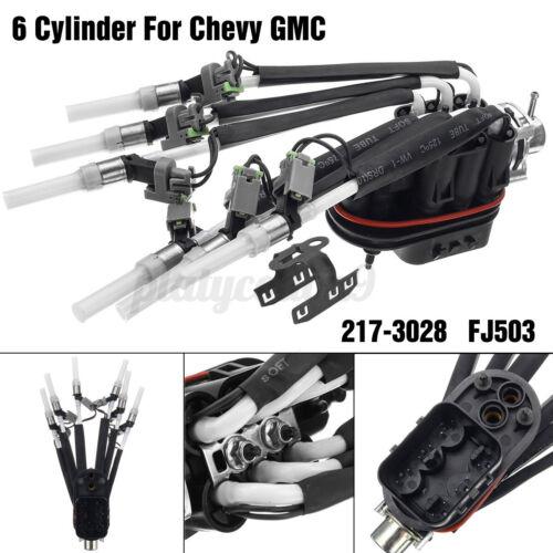 6 Cylinder Fuel Injector 217-3028 FJ503 For GMC Chevy Pickup Oldsmobile V6 4.3L