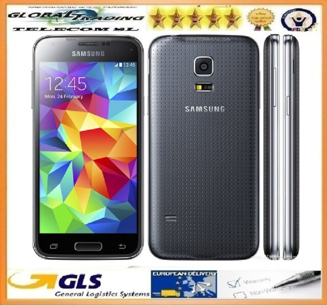 TELEFONO MOVIL SAMSUNG S5 MINI SM-G800F NEGRO NUEVO CAJA ABIERTA + FACTURA