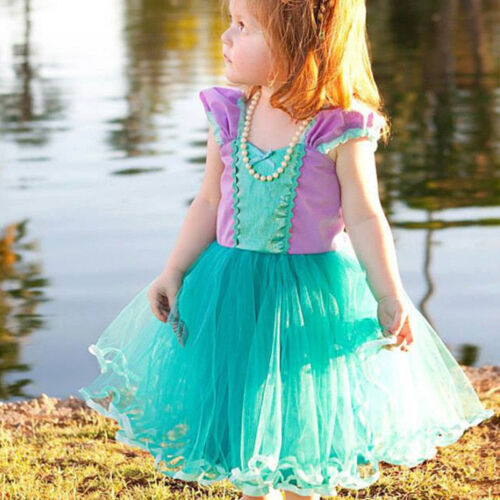 Disney Princess Baby Kid Girls Dress Toddler Halloween Carnival Party Tutu Dress