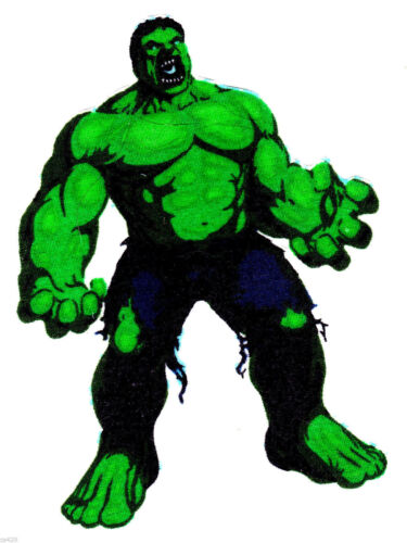 """5/"""" inch Incredible hulk marvel comics hands out fabric applique iron on"""