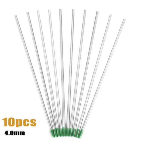 10pcs Pure Tungsten Electrodes Green Tip 1.0//1.6//2.0//2.4//3.2mm For Tig Welding G