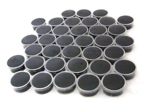 Medium Sized Round Acrylic Gem Jars Package Of 36 Black
