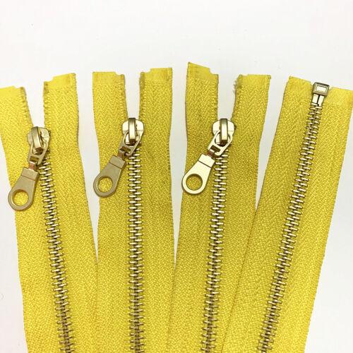 5-20pcs 20//24 inch 5# metal gourd head brass opening high-grade zipper 20color