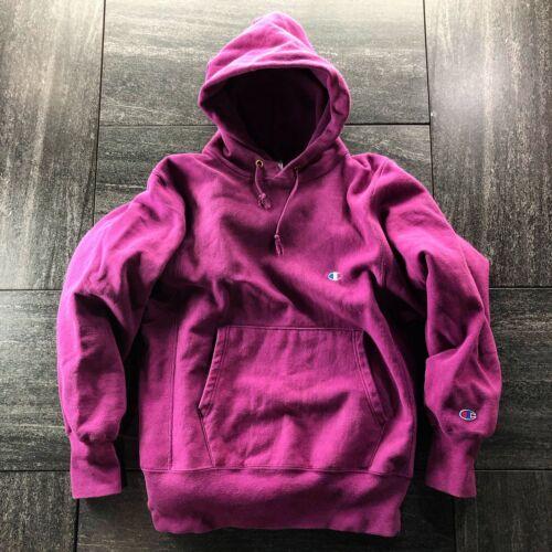 VINTAGE Champion 90s Purple Reverse Weave Hoodie S