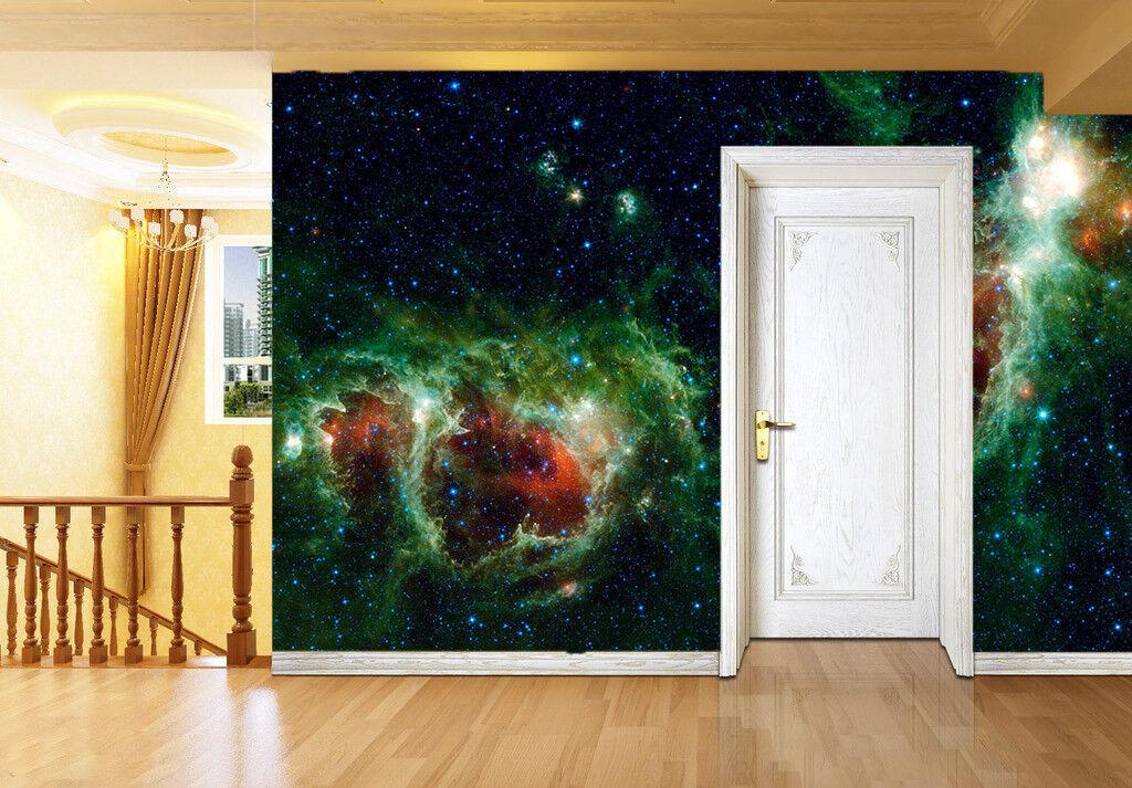 3D Green Stars 429 Wallpaper Murals Wall Print Wallpaper Mural AJ WALL UK Carly
