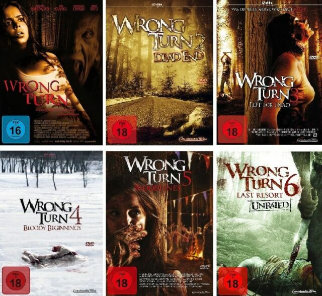 Wrong Turn Part 1 2 3 4 5 6 Horror Movies Complete Collection DVD Edition  for sale online   eBay