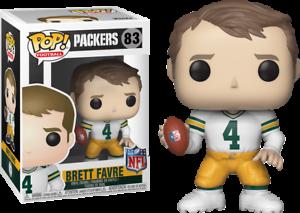 CALCIO Brett Favre Bianco Figura in vinile #83 NFL Green Bay Packers FUNKO POP