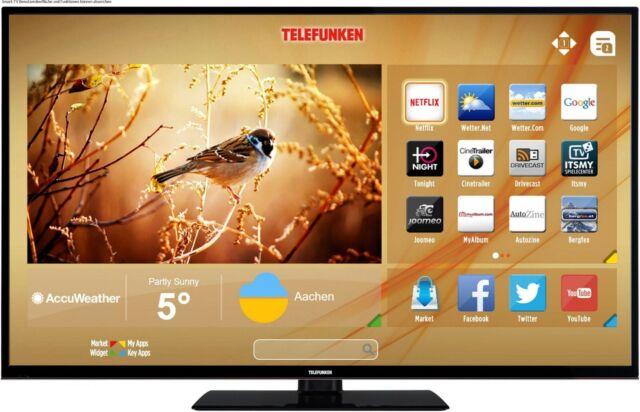 "Telefunken 40"" Zoll Fernseher ULTRA HD 4K LED TV Triple Tuner Smart TV WLAN HDR"