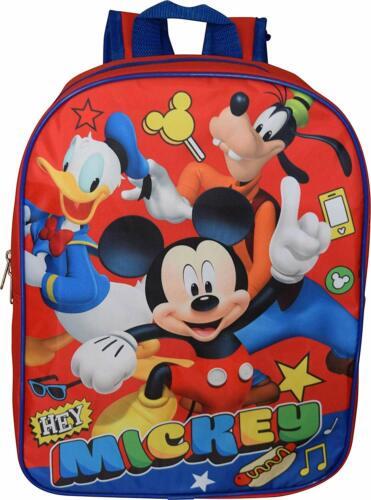 "Disney Mickey Mouse Boys School Backpack Book bag Kids Gift Toy Cartoon 15/"""