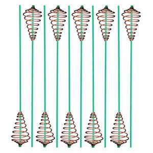10-x-FEEDER-FUTTERSPIRALE-OHNE-BLEI-WEITWURF-FUTTERKORB-MIT-ANTI-TANGLE-TUBE