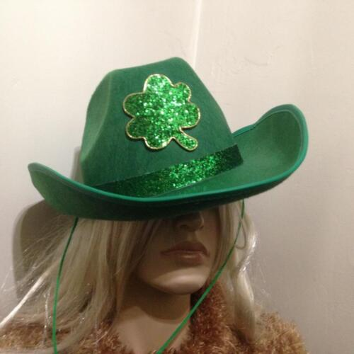 Vintage, St. Patricks, Green Cowboy Wide Brim Hat