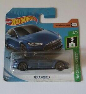 Tesla-Model-S-Hot-Wheels-2019-Hw-Green-Speed-4-5-Mattel