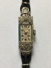 Beautiful Antique 1930s Ladies Diamond And 18 Carat White Gold Watch.