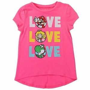 Nintendo-Mario-Love-Pink-Girl-039-s-T-shirt-Top-Shirt-NWT