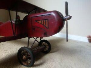 Vintage Desk & Shelf Model Aircraft Decor Model Airplane Art Room Decoration