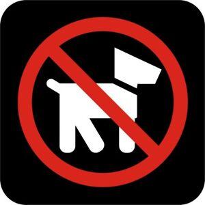 Image Is Loading No Pets International Symbol Vinyl Decal Sticker Car