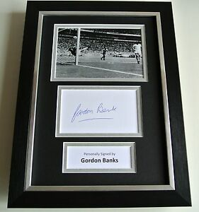 6453548be1c Image is loading Gordon-Banks-SIGNED-A4-FRAMED-Photo-Autograph-Display-