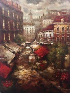 Fine-Art-Original-Oil-Painting-On-Canvas-Impressionist-36-x-48-Signed