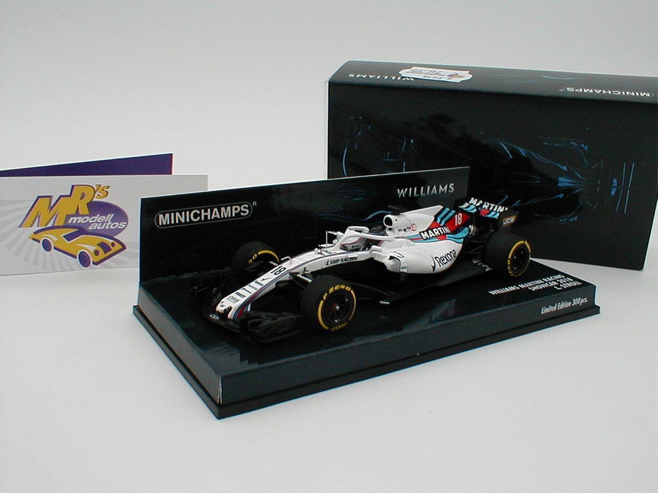 Minichamps 417189018-Williams Martini Team f1 Showcar 2018  L. Stroll  1:43