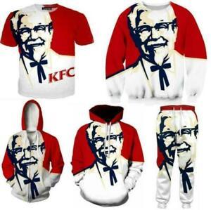 KFC Grandfather Men/Women 3D Print Casual Tshirt/Sweatshirt/Hoodies K32