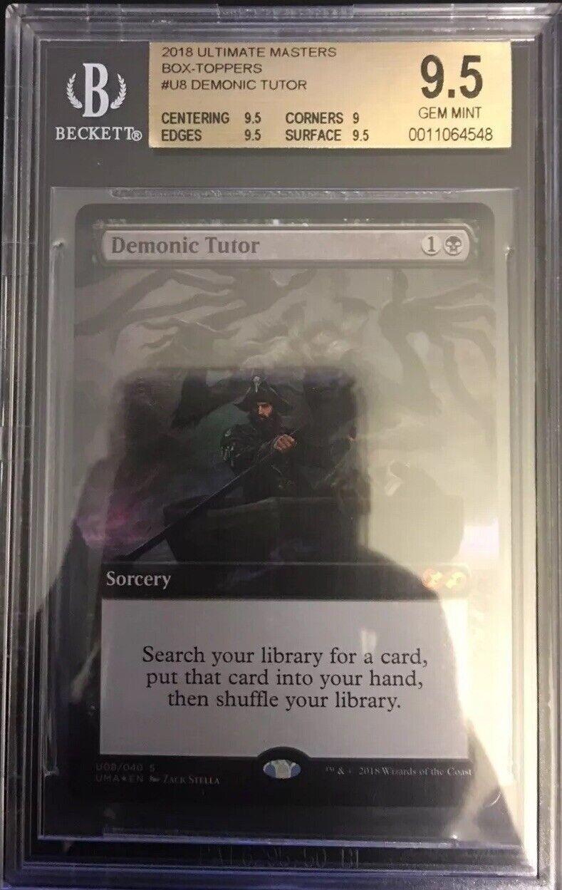 Demonic Tutor - BGS 9.5 GEM MINT - Ultimate Masters Box Topper - MTG -
