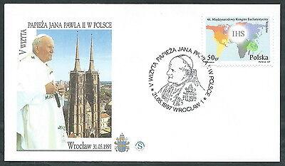 1997 Vaticano Viaggi Del Papa Polonia Wroclaw - Sv9-2