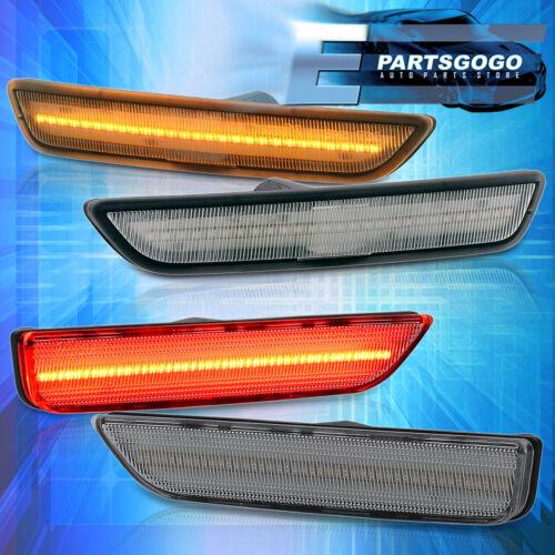 Para Mustang 10-14 Led Âmbar Dianteiro//Lado Traseira Vermelha Marcador Luzes Refletor Para-choques