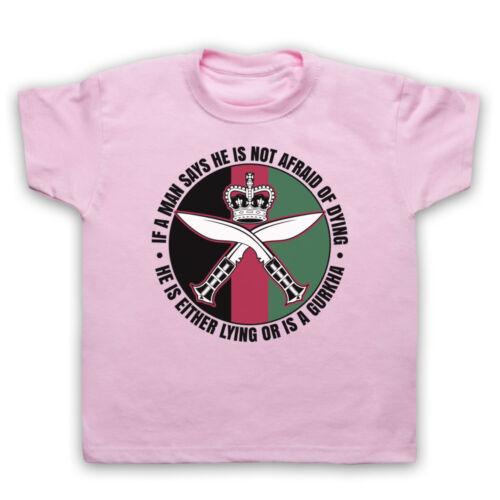 GURKHA REGIMENT SAM MANEKSHAW ARMY SOLDIER QUOTE MENS WOMENS KIDS T-SHIRT