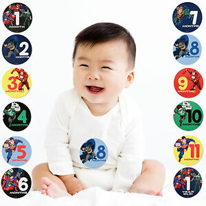 Bow Tie Superman Baby Sock /& Milestone Sticker Set NIB Infant Boy DC Comics