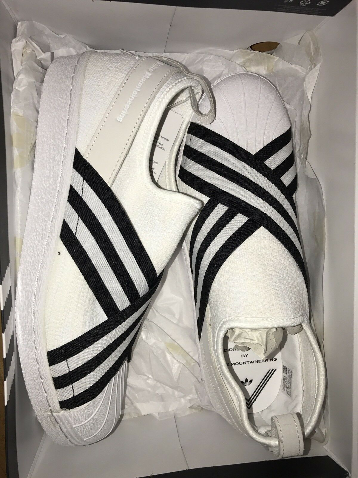 White mountaineering X Adidas Prime Knit Slip On Superstar Nmd Nmd Nmd Wang Yeezy 10.5 e59391
