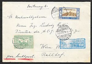 Netherlands Indies covers 1931 Airmailcover Batavia to Vienna